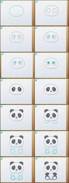 Learn to draw a Panda! Learn to draw a Panda! Drawing Lessons, Drawing Techniques, Art Lessons, Drawing For Kids, Drawing Ideas, Drawing Tips, Panda Drawing Easy, Easy Drawing Steps, Drawing Style