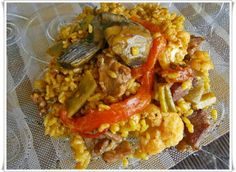 Arroz con magro y verduras Savoury Dishes, Pulled Pork, Tacos, Seafood, Mexican, Ethnic Recipes, Minimalist Office, Gastronomia, Gourmet