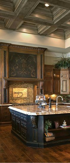 Great kitchen design ~ Tuscan Home