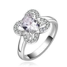 R647-B  Silver plated new design finger ring for lady