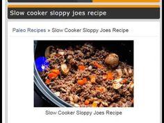 Paleo recipes » Slow Cooker Sloppy Joes Recipe - Recipep 2017 - YouTube