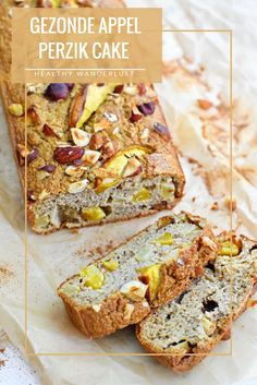 Maak in 15 minuten deze gezonde appel perzik cake waardoor je de rest van de week kan genieten van een verantwoorde snack - Lees het recept op www.healthywanderlust.nl | Health blog voor vrouw, moeder en kind