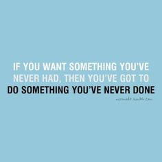 something you've never done...
