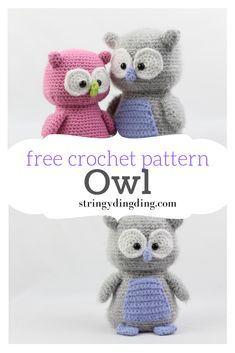 Amigurumi - Free Crochet Pattern This pattern is a HOOT! Visit my site now to make this FREE owl amigurumi pattern.This pattern is a HOOT! Visit my site now to make this FREE owl amigurumi pattern. Crochet Amigurumi Free Patterns, Crochet Animal Patterns, Stuffed Animal Patterns, Stuffed Animals, Crochet Animal Amigurumi, Crochet Dolls, Crocheted Toys, Diy Crochet Animals, Amigurumi Toys
