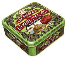 Collector small tin Baked since 1888 Original recipe La Mere Poulard Cookies, Double Chocolate Chip, 7.05 Ounce