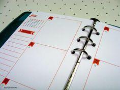 2016 Personal Kalender Einlagen Filofax - Jan-Dez von juniq paperworks auf DaWanda.com