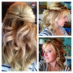 Brides with medium length hair can easily get this hairstyle and make their day a bigger day with more beautiful hairstyles. Description from halfuphalfdownhairstyles.com. I searched for this on bing.com/images