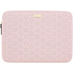 Kate Spade New York New York Perforated Laptop Sleeve Carry Case For... (1.163.780 IDR) ❤ liked on Polyvore featuring accessories, tech accessories, kate spade laptop case, kate spade, laptop sleeve cases, laptop travel case and macbook laptop case