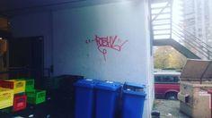 #graffiti #graff #graffitiart #salvationarmy #backalley #roshy #red #box #bin #northvancouver