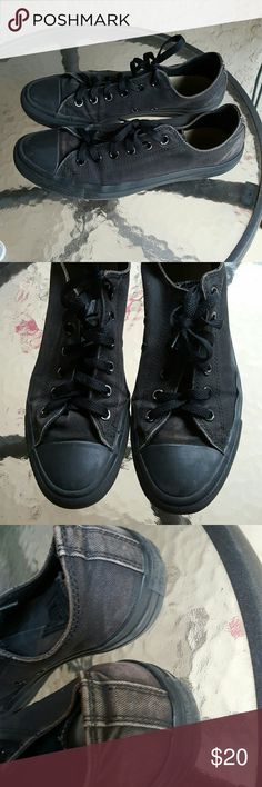 Converse women's 10 men's 8 Black Converse pre-loved price accordingly these dudes show signs of wear they are a women's 10 men's 8 Converse Shoes Sneakers