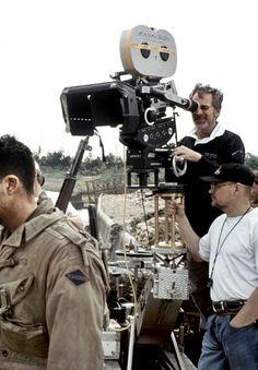 "Steven Spielberg on the set of ""Saving Private Ryan"" Martin Scorsese, Stanley Kubrick, Alfred Hitchcock, Cincinnati, Community Picture, Super 8, Saving Private Ryan, Film Life, Film Movie"