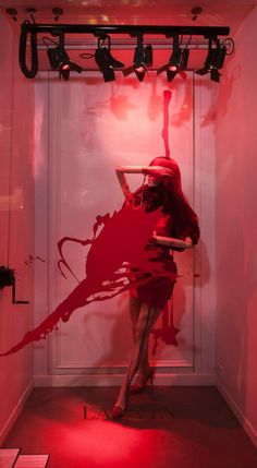 "LANVIN presents ""Splash"" Windows. I would kill to be art director of any windows. Scene Girl Hair, Window Display Design, Twist Braids, Shades Of Red, Retail Design, Visual Merchandising, Children Photography, Beauty And The Beast, Arquitetura"