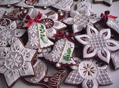 Order Cookies, Gingerbread Cookies, Christmas Cookies, Christmas Bells, Xmas Ornaments, Polymer Clay Christmas, Cookie Designs, Cookie Ideas, Fancy Desserts