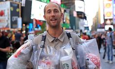 Rob Greenfield and his garbage collecting experiment.   Check it out > https://www.youtube.com/watch?v=KH20tkp_EhY