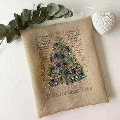 Christmas Night, Burlap, Reusable Tote Bags, Embroidery, Victoria, Sequins, Bodycon Dress, Cross Stitch, Needlework