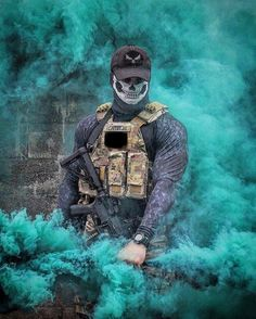 Territory Control of the process Smoke Wallpaper, Graffiti Wallpaper, Gas Mask Art, Masks Art, Smoke Bomb Photography, Art Photography, Smoke Pictures, Colored Smoke, Smoke Art