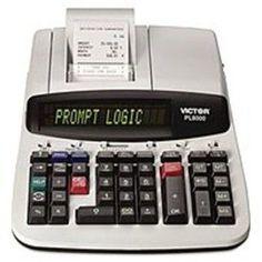 Victor Technology VCTPL8000 PL8000 Desktop Calculator - 14 Digits - 8 lps - Backlit Dot Matrix - Black