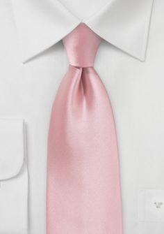 Markante Herrenkrawatte rosé Kunstfaser