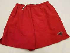 Vintage Joe Marlin Original Outfitters Large Red Swim Trunks Lined Drawstring