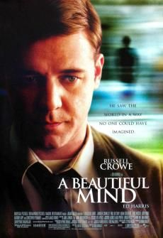 This is an awesome movie about a brilliant man who has schizophrenia and sees people who he finally realizes aren't real and choses, after a hellish life filled with terrible suffering, to live his life and ignoring them and goes on to win the Nobel peace prize....awesome movie...