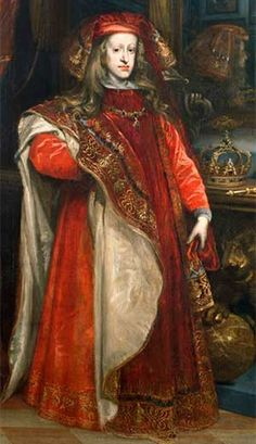 Charles II of Spain wearing the robes of the Order of the Golden Fleece, in about by Juan Carreño de Miranda Naples, Spanish Netherlands, Royal House, European History, Prince And Princess, King Charles, King Henry, Glamour, Queen Victoria