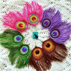 Watch The Video Splendid Crochet a Puff Flower Ideas. Phenomenal Crochet a Puff Flower Ideas. Crochet Earrings Pattern, Crochet Jewelry Patterns, Crochet Motifs, Crochet Flower Patterns, Crochet Art, Crochet Accessories, Crochet Designs, Crochet Crafts, Yarn Crafts