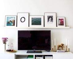 Styling a TV stand with an art gallery ledge