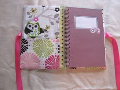 Fabric Covered Notebooks - pinning this but I know there isn't a chance I will ever make this, but I wish I had the time!