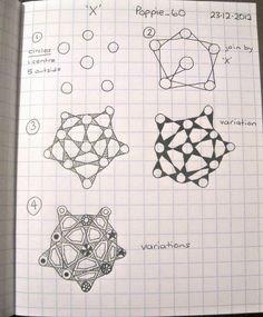 X. Zentangle Pattern and Variations by Lila Popcheff (Poppie_60).