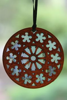 the iconic 'rose window' of christchurch cathedral remembered as a wooden ornament Stained Glass Rose, Rose Window, Kiwiana, Wooden Ornaments, Pre And Post, Cool Items, Cathedral, Windows, Face