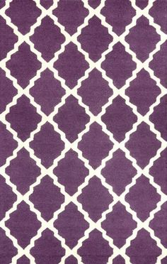 nuLOOM Rugs Purple Hand Hooked Marrakech Trellis Hand Hooked 100% Wool Contempor 3 1/2 x 5 1/2 Home Decor Rugs Rugs