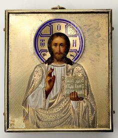 Lot 0366 Russian icon of Christ Pantokrator. - Baltic Auction Group
