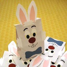 White Rabbit Birthday Party régal Sacks Magic Alice par jettabees