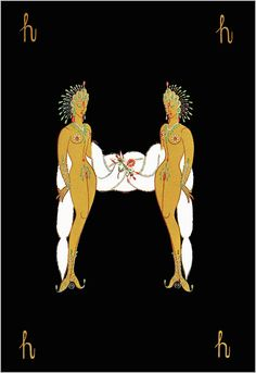H - Art Romain de Tirtoff dit Erté Artiste russe naturalisé français Estilo Art Deco, Arte Art Deco, Art Deco Artists, Art Deco Illustration, Illustrations, Art Nouveau, Vintage Prints, Vintage Art, Art Romain