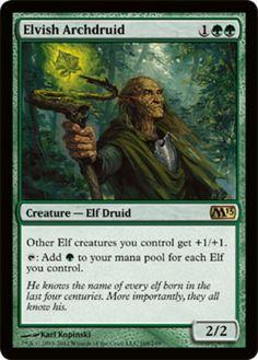 Elvish-Archdruid-x4-Magic-the-Gathering-4x-Magic-2013-mtg-rare-card-lot-elves