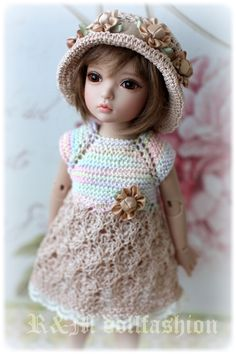 "Hand-knitted outfit ""BEIGE"" for IPLEHOUSE BID, other YoSD BJD, Boneka dolls 