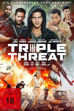 Watch Streaming Triple Threat : Movies Online A Crime Syndicate Places A Hit On A Billionaire's Daughter, Making Her The Target Of An Elite. The Raid, Michael Jai White, Tony Jaa, Action Movies To Watch, Movies To Watch Free, Movies Free, Download Free Movies Online, Free Movie Downloads, Netflix Movies
