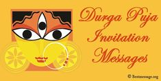 welcoming Durga Puja invitation messages in English and Hindi. Wonderful Durga Pooja messages and wishes to invite family and friends on WhatsApp. Navratri Pictures, Navratri Images, Navratri Messages, Happy Navratri Wishes, Invite, Invitations, Durga Puja, First Love, English