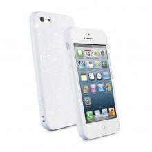 Housse iPhone 5 Muvit - Minigel Fina Glitter Blanc avec Film Protection  13,99 €