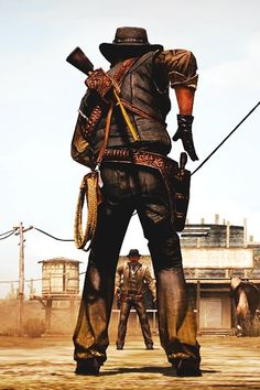 *** Cutout man in legs have ppl lose far away being the cowboy Video Game Art, Video Games, Peliculas Western, Westerns, Billy The Kid, Red Dead Redemption 1, John Marston, Western Comics, West Art