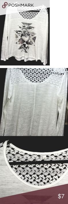 """Oversized Cute Aeropostle Long Sleeve Top Sz L Awesome Over*Sized AEROPOSTLE Size L Babydoll Glam top! Its 38""""Around bust then flares out for that cool """"babydoll"""" Look and its 24"""" length, Sleeves purposely Long -its sort of like a soft sweater but WAY Light.....Not new,view pics closely! But in Ready to wear Nice Stylish Condition, See photos!!!  PLEASE CONSIDER BROWSING MY CLOSET!!! WHY I JUST MAY HAVE SOMETHING YOU LIKE, I BUNDLE! MY PRICES ARE CRAZY CHEAP, MAKE OFFERS! AEROPOSTLE Tops…"""