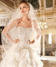 Demetrios 2015 Preview Style GR271 by Demetrios available now at Macy's Bridal Salon in Chicago #macysbridalsalon #chicago #demetrios