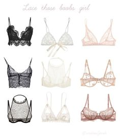 """""""You gotta fall into the lace bra trend, so lace it up!"""" by andreajurdi on Polyvore"""