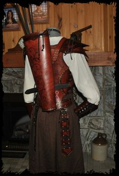 Give me an excuse to use my LRP bow for steampunk..wish this was my quiver and matching armoured bodice!!
