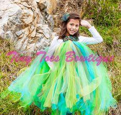 Peacock Dress by roshalsaenz on Etsy, $79.00  www.facebook.com/tinytoesbowtique2010