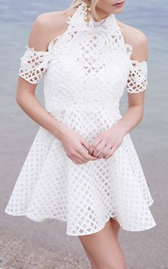 Be Mine Lace Flare Dress by THURLEY for Preorder on Moda Operandi
