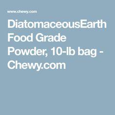 DiatomaceousEarth Food Grade Powder, 10-lb bag - Chewy.com