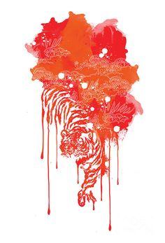 Painted Tiger Digital Art