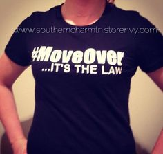 We are joining in the #MoveOver movement and want to make a statement and gain awareness for the Move Over Law!    100% combed ringspun cotton; Super soft baby jersey knit; Short-sleeves with a longer body length; Shoulder taping.  Very Soft!!    Please specify color preference of lettering at ch...