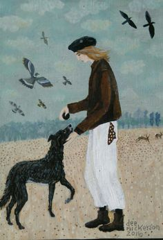 Another of Dee Nickerson's lovely paintings. Gorgeous.